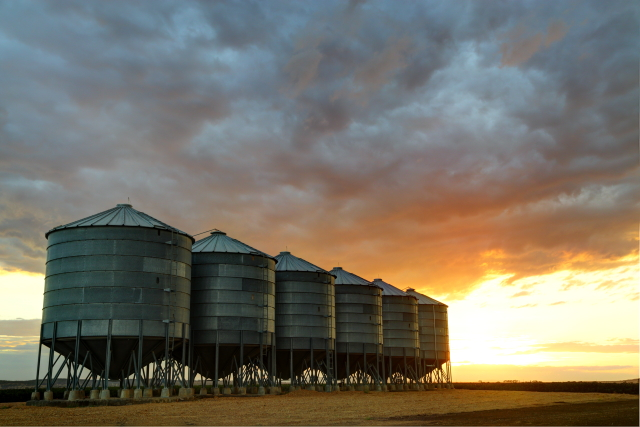 Silos at Dusk 2AM 8019-8021 HDR