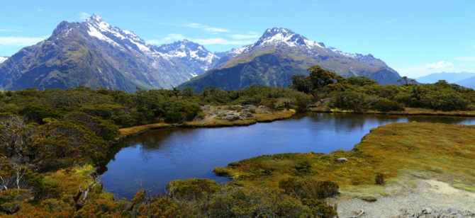 Routeburn Track 2AM 0796-0800 pano