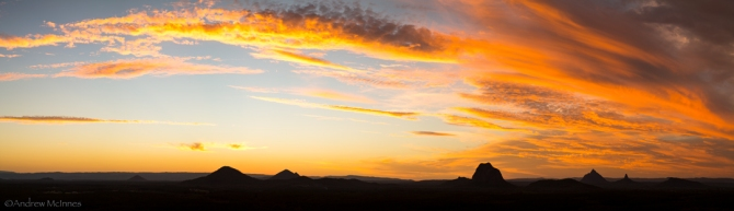 Glasshouse Mountains 2AM 3904-3915_Pano ©Andrew McInnes. All Rights Reserved.